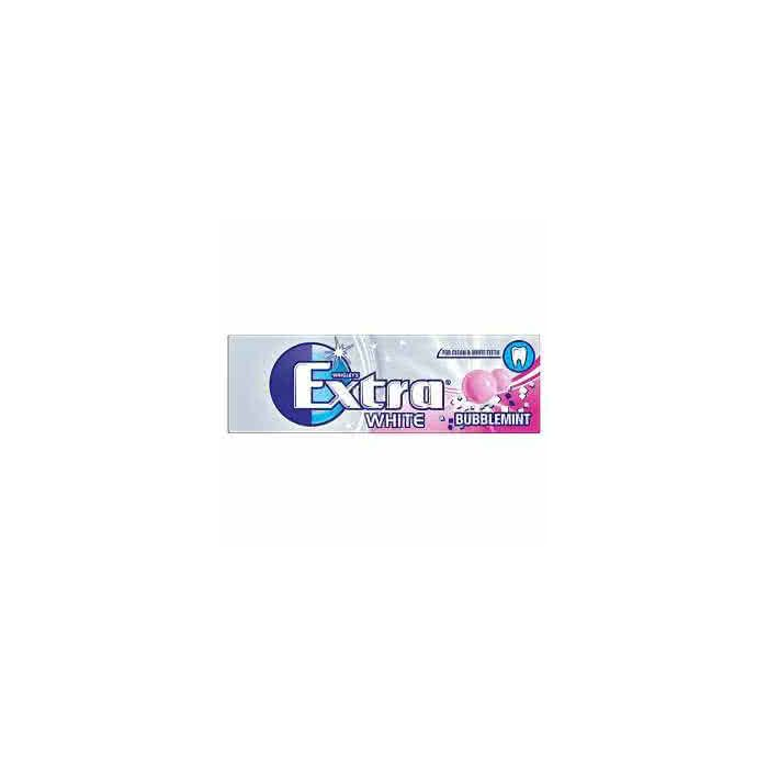 Wrigley's Extra White BUBBLEMINT 14g Out of Date 5 May 2016