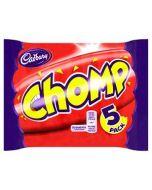 Cadbury Chomp 5 Multi Pack 117.5g Wholesale Case