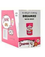Dreamies Cat Treats with Tempting Beef 60g x 8 Wholesale Case