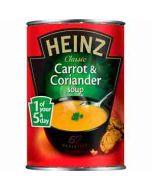 Heinz Classic CARROT & CORIANDER Soup 400g Tin