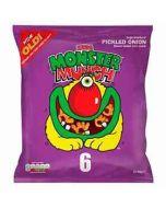 Mega Monster Munch Pickled Onion Snacks 22g x 6 per pack